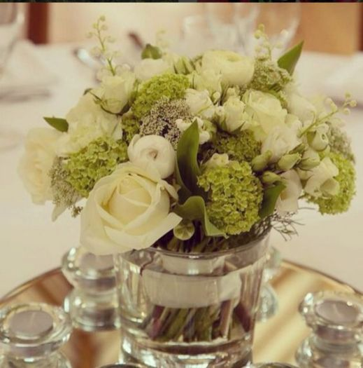 Neutral Wedding Table Centre
