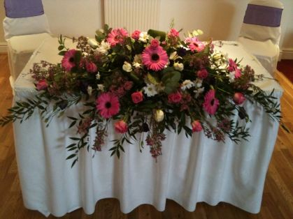 October 2013 - Front Ceremony Table