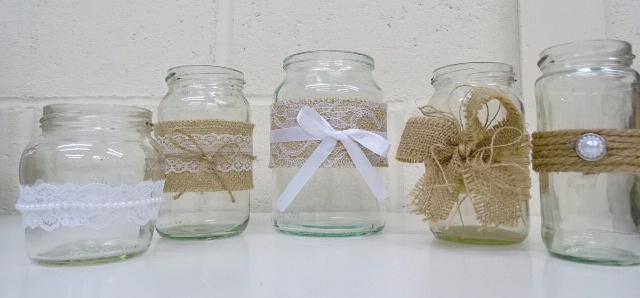 How to Decorate Jam Jars for an Upcoming Event or Wedding