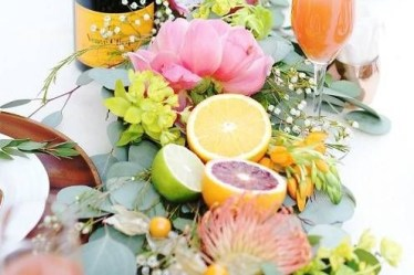 Citrus Fruits with Flowers for Summer
