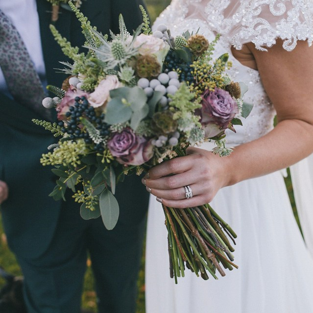 Bouquet Breakdown - Rustic Autumn Yorkshire Wedding