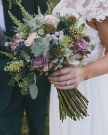 Bouquet Breakdown - Rustic Autumn Yorkshire Wedding