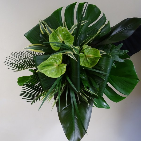 Tropical Leaf Statement Wedding Bouquet