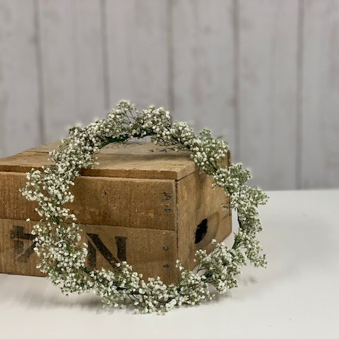 DIY Gypsophila Flower Crown