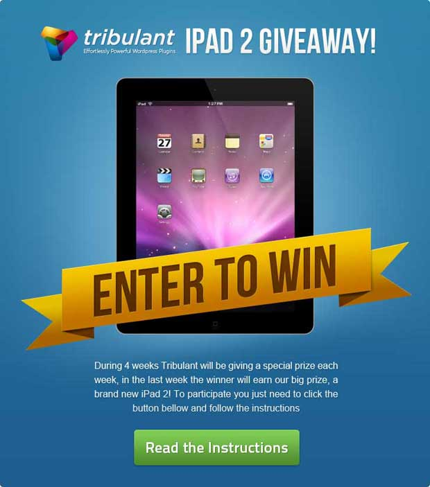 apple ipad 2 giveaway contest
