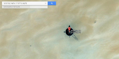 Google Maps Marker in Niger - Airplane in the Sahara Desert
