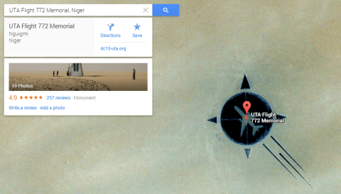 UTA Flight 772 Memorial, Niger - Airplane in the Sahara Desert