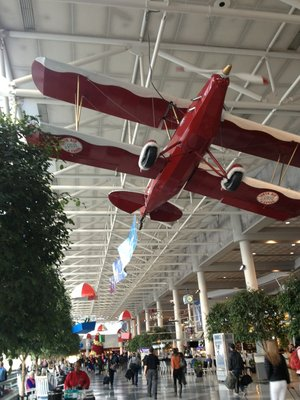 Just Plane Art in CLT Airport Atrium