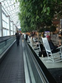 CLT Airport Rocking Chairs