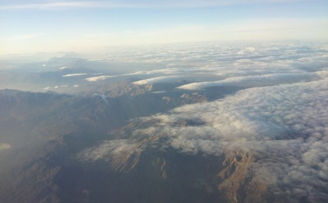 Diving Through Clouds Towards Cape Town