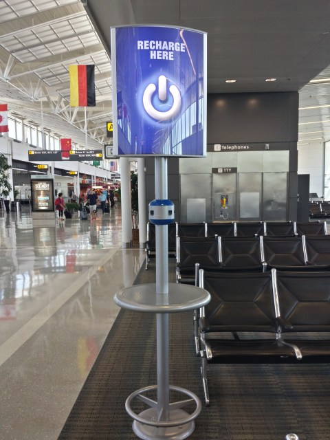 Dulles Airport - Charging Stations abound