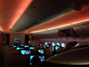 Business Class Qatar Airways Flight 1366