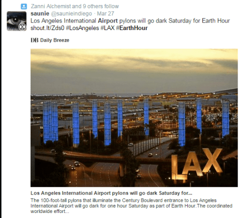 LAX Earth Hour at the Airport