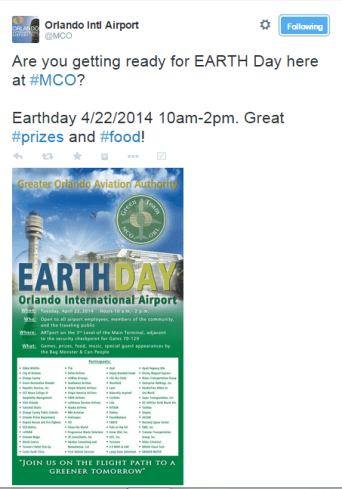 MCO Airport Earth Day
