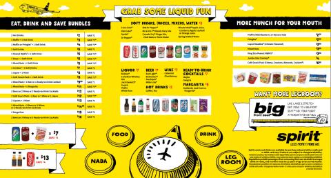 spirit menu