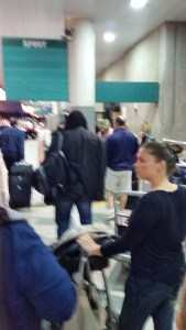 Bad picture but shows how long the line is.