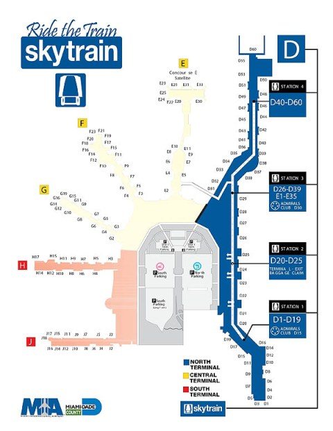 MIA Airport Layout