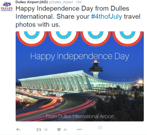 DC Airports Celebrating Independence Day 2016