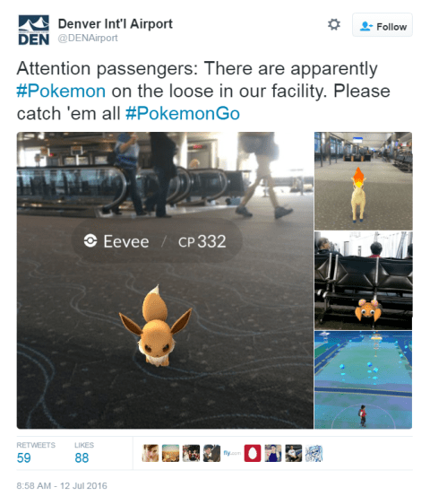 Pokémon Go airport edition at DEN