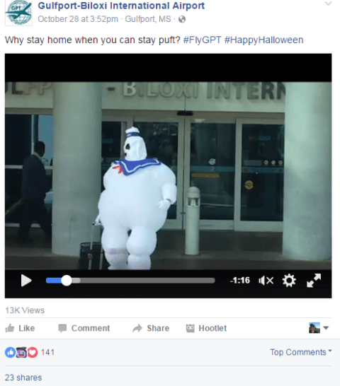 Stay Puft celebrates Airport Halloween 2016