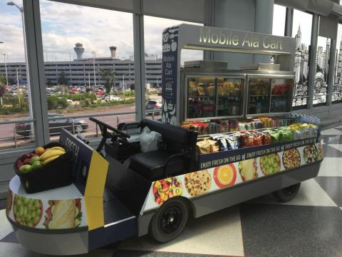 Airport food trucks - courtesy of HMS Host