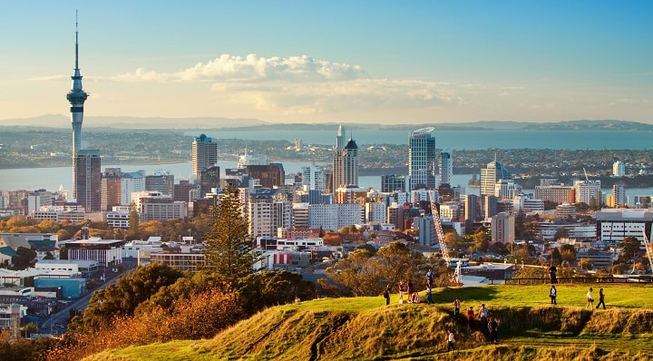 Scenic City View in Auckland