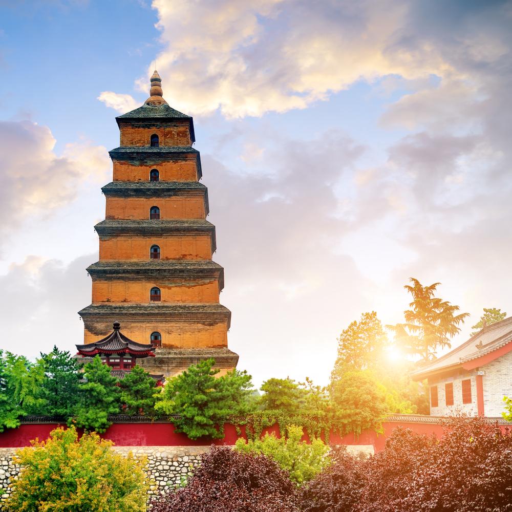 Giant Wild Goose Pagoda merupakan pagoda Buddha yang terletak di Xian