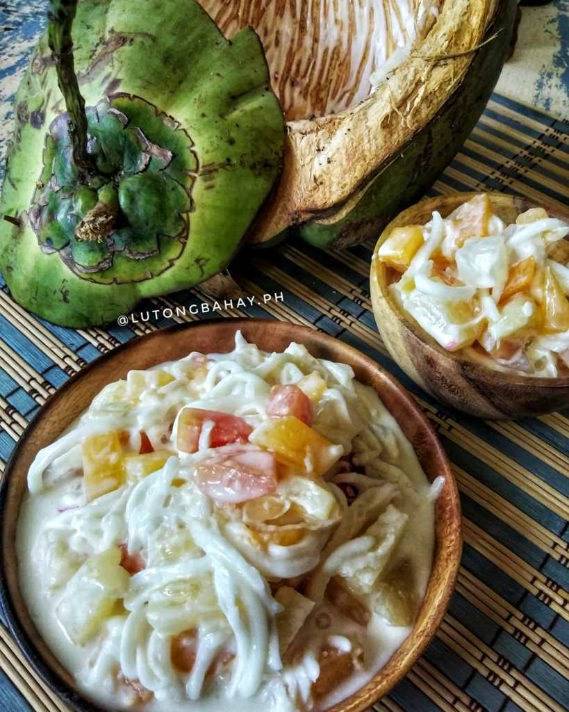 Buko Salad, the filipino's version of fruit salad.