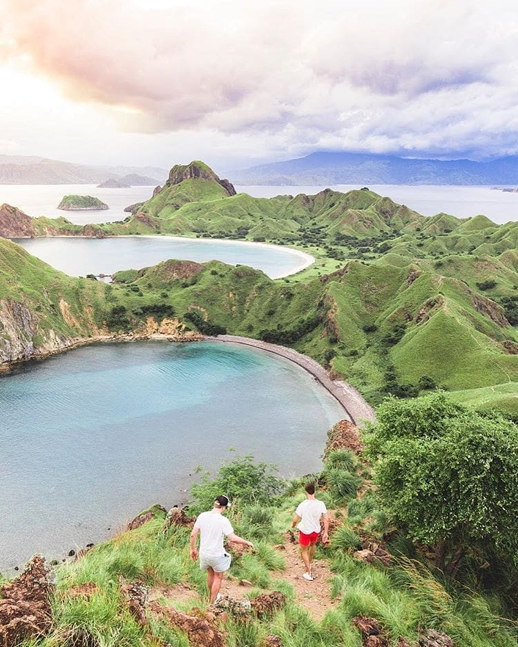 Flores is home to the magnificent Kelimutu, an extinct volcano known for its three rainbow-coloured crater lakes.