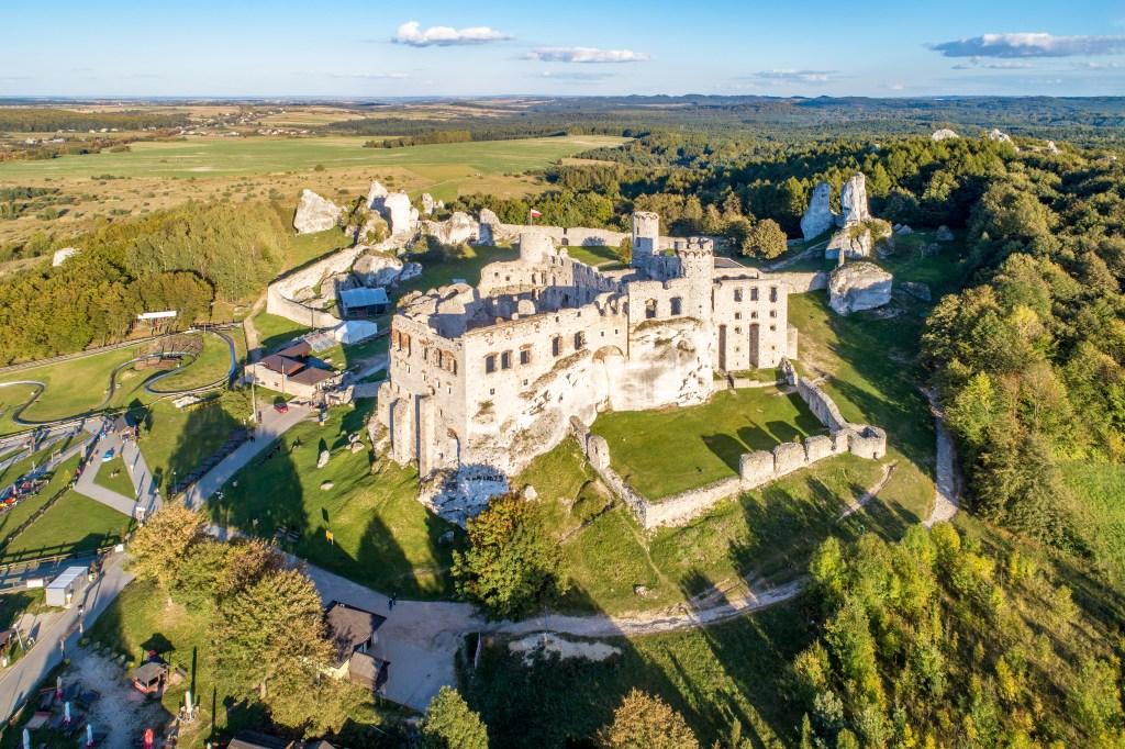 Ogrodzieniec Castle Aerial View