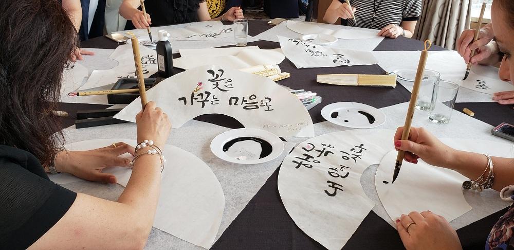 Calligraphy workshops in Korea