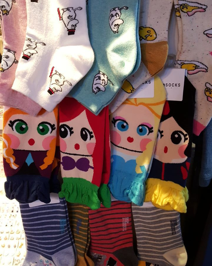 Cute novelty socks can also be found at Shilin Night Market in Taipei