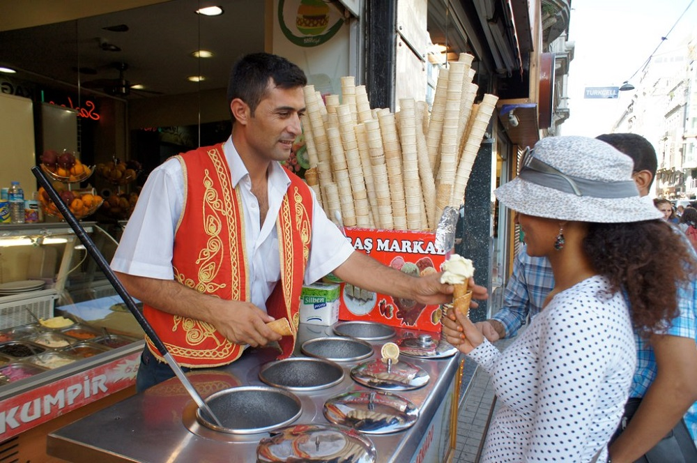 Dondurma or Turkish Ice-Cream is a must have when visiting Turkey in Summer