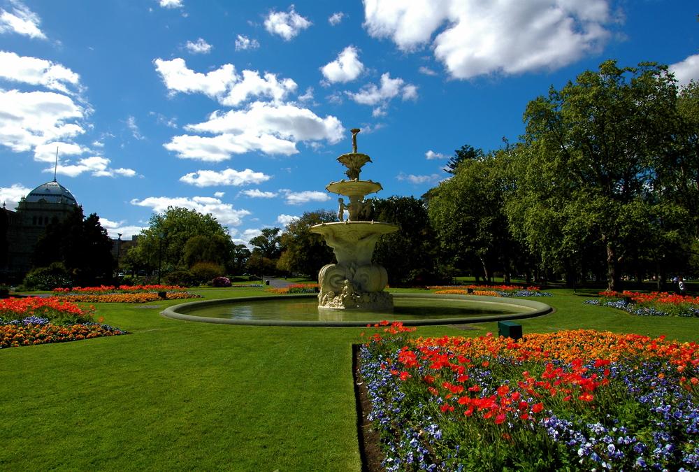 Visit Carlton Gardens for nice greenery
