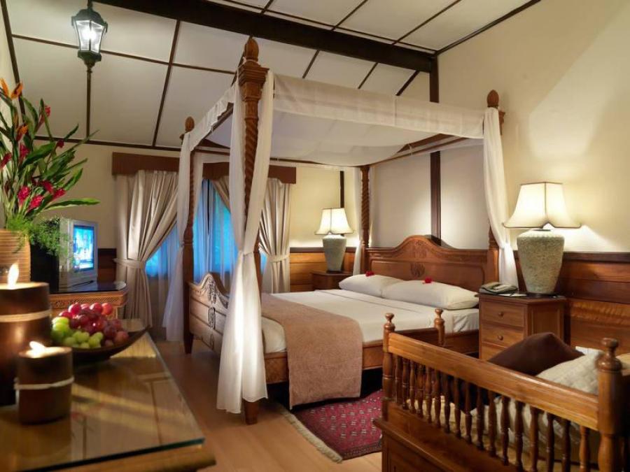 Eastern Pavilion Boutique Resort & Spa menampilkan gabungan rustik dan unsur tradisional Melayu