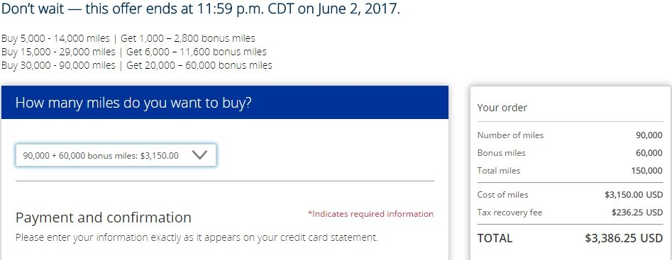 News Purchase Miles From United Airlines With Up To 60000 Extra