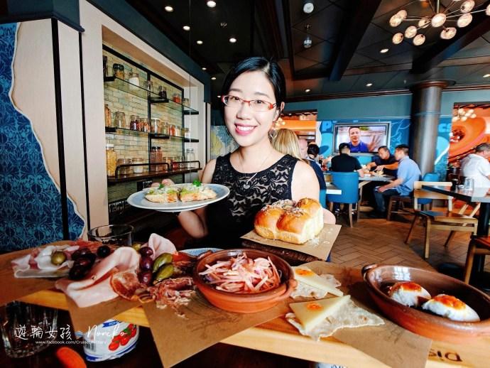 """[客座作家 Noniko] 皇家加勒比遊輪""""海洋聖歌號""""之船上餐廳-傑米義大利餐廳體驗分享"""