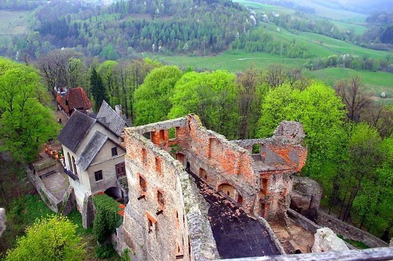 Zamek Grodno - widok z wieży