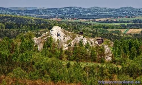 Podzamcze - Góra Birów'2012 - widok z Zamku Ogrodzieniec