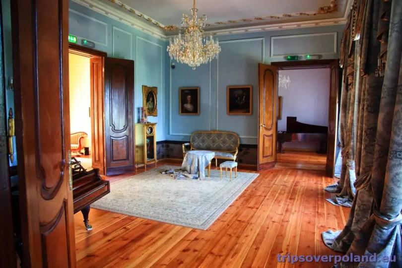Ostromecko - Stary Pałac - wnętrza