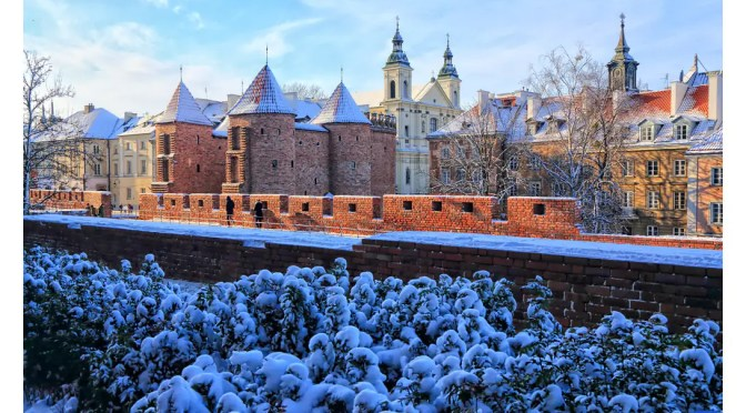 Zimowe obrazki z Warszawy