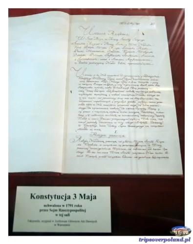Konstytucja 3 maja - rękopis