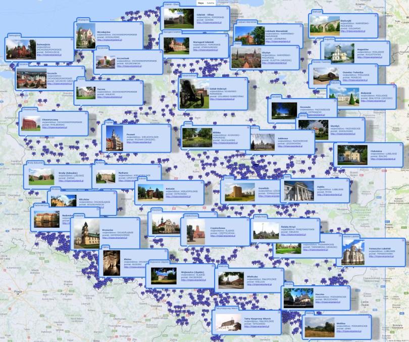 Wyszukiwarka uproszczona pełnoekranowa - wyszukiwanie obszarem prostokątnym - cały obszar Polski