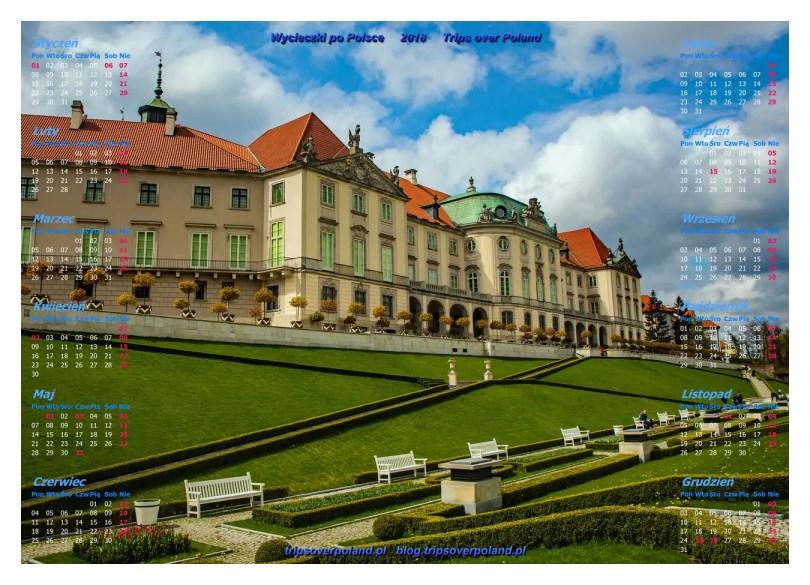 Ogrody górne pod Zamkiem Królewski w Warszawie
