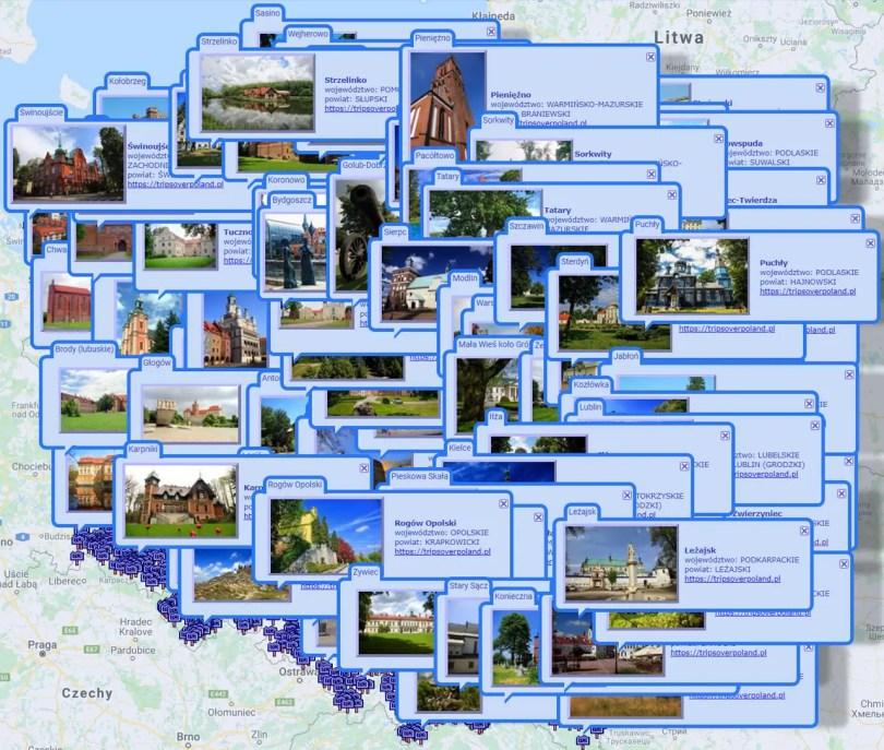 2127 miejsc w Polsce