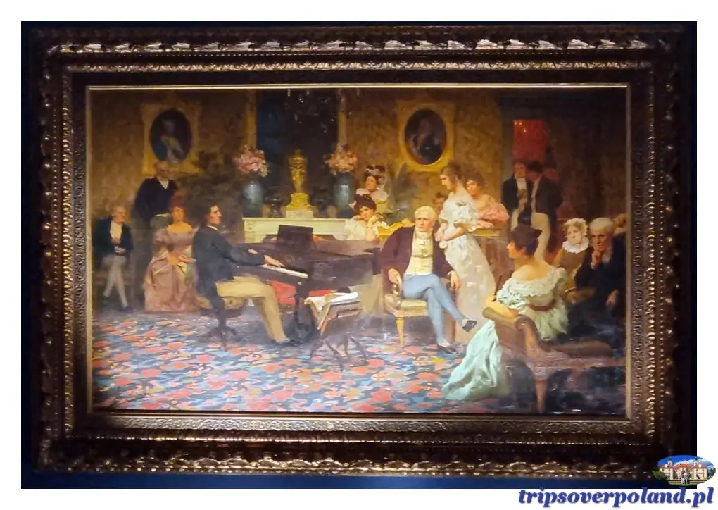 Pałac w Nieborowie - obraz Henryka Siemiradzkiego - Chopin w salonie księcia Antoniego Radziwiłła w roku 1829