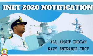 INET (Indian Navy Entrance Test ) Exam Notification 2020