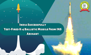 India Successfully Test-Fired K-4 Ballistic Missile From INS Arihant