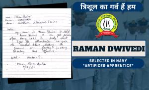 Raman Dwivedi – Navy AA Selection