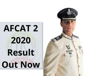 Afcat 2 Result 2020 Declared